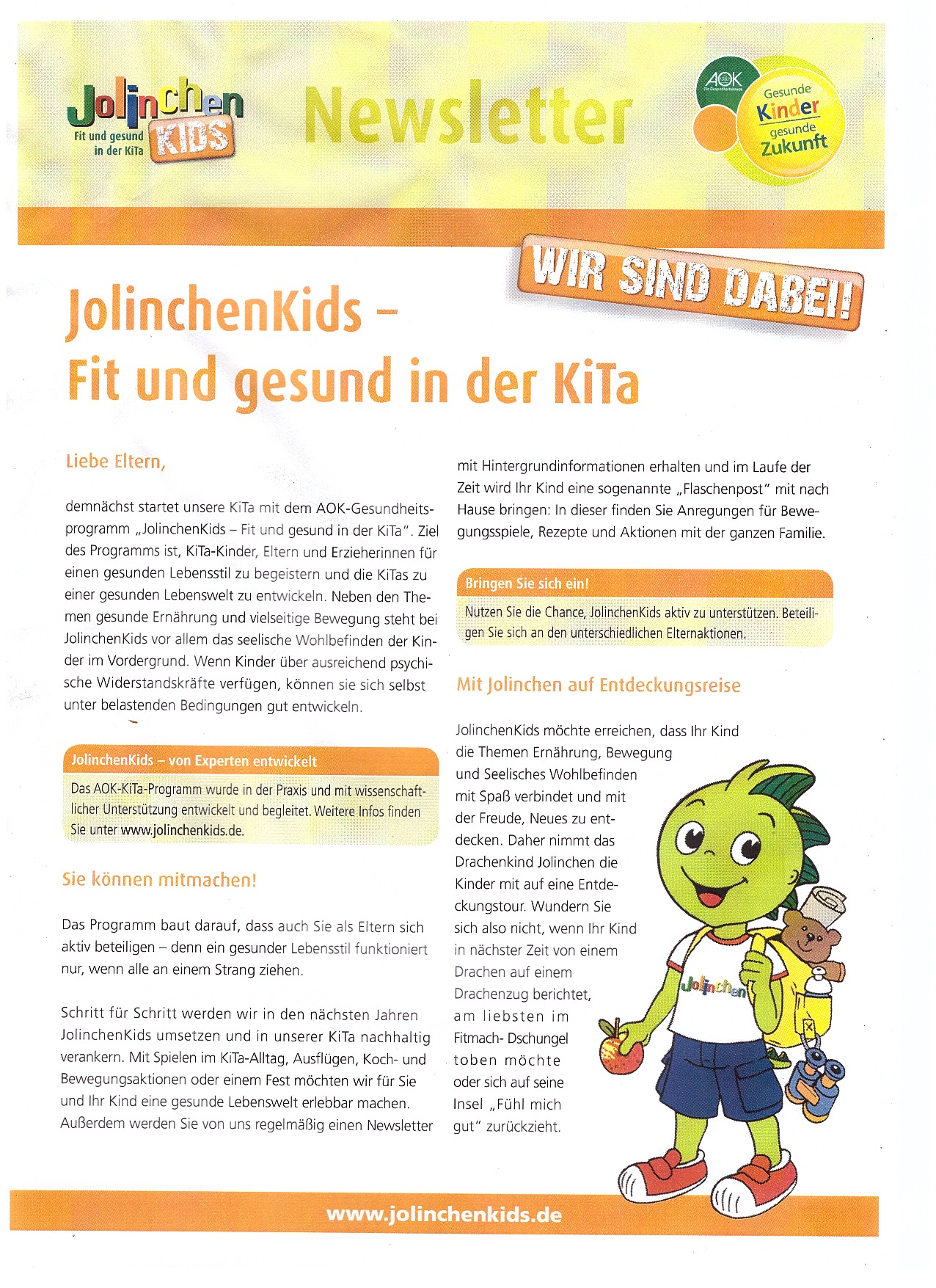 Newsletter Jorlinchen